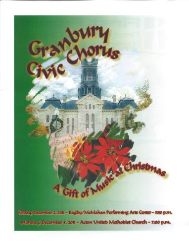 GCC Christmas 2011 Program cover