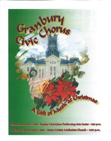 GCC Christmas 2011 Program cover