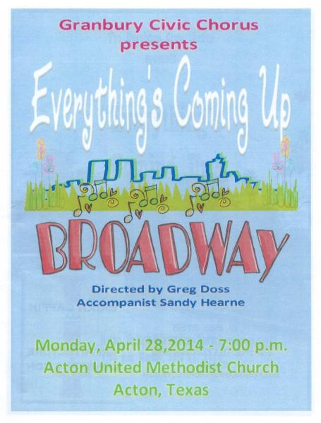 2014 Spring concert cover