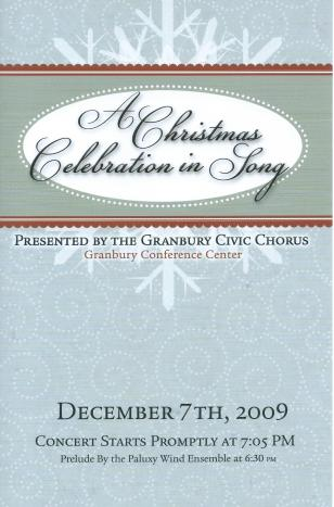 2009 Christmas concert cover