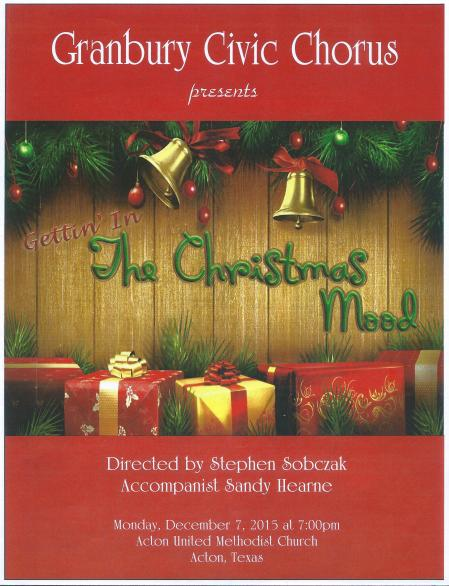 2015 Christmas concert cover