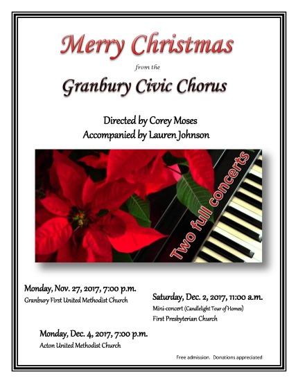 2017 Christmas program poster